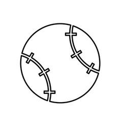 baseball ball black color icon vector image vector image