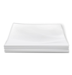 Blank newspapers pile on white background vector image vector image