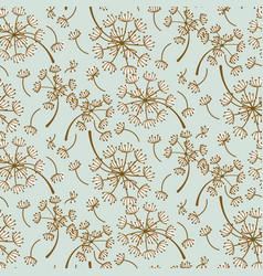fluffy dandelion blue pastel seamless vector image vector image