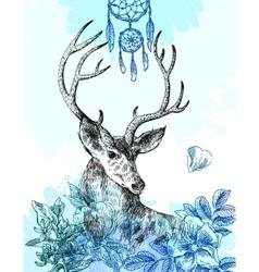 Hand drawn deer vector
