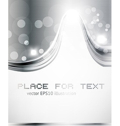 Metal Swirl Background with Text vector image vector image