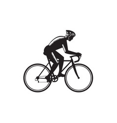 road cyclist racing woodcut vector image vector image