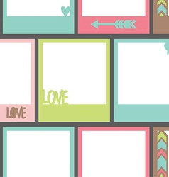 Seamless pattern with photo frame vector image