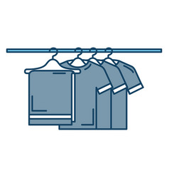 towel and shirts hanging in wire hook vector image vector image
