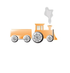 Tractor train design element vector