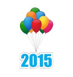 Balloons 2015 vector image vector image