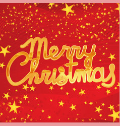 golden shiny merry christmas vector image vector image