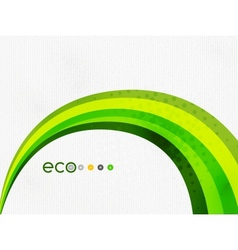Green eco rainbow on textile texture vector image