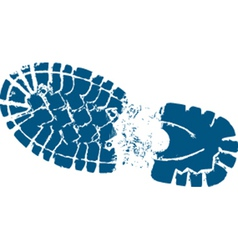 Hiking boot track vector image vector image