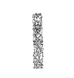 letters floral i vector image
