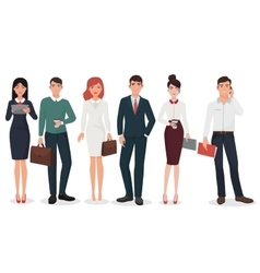 Young Office detailed business people with vector image