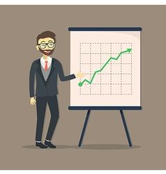 Businessman presentation growing up vector