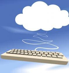 cloud and keyboard vector image vector image