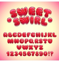 Funny sweet font vector image vector image