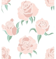 seamless colored background with roses vector image vector image