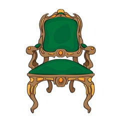 baroque chair vector image vector image