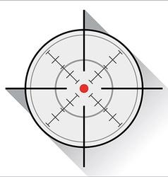 Crosshair vector image