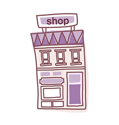 icon shop vector image vector image