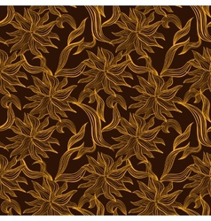 Seamless pattern with floral lace ornament vector image