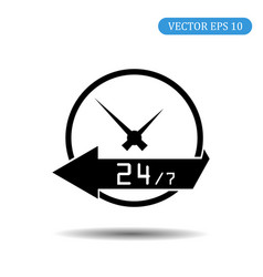 24 hours icon eps 10 vector image