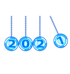 Abstract 2021 balls vector