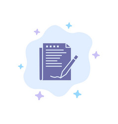 agreement report form layout paper blue icon on vector image