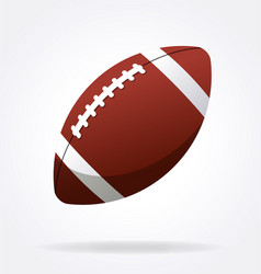 American football gridiron icon vector