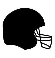American football helmet the black color icon vector