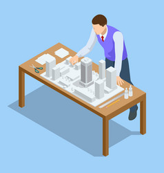 Architectural project isometric concept vector