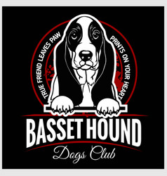 basset hound - for t-shirt vector image