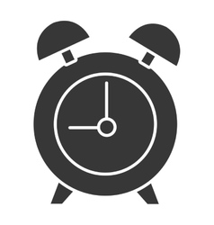 Black table clock graphic vector