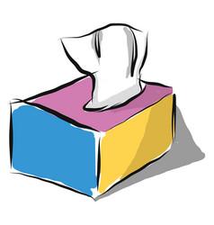 Box tissue or color vector