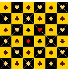 Card Suits Yellow Black Chess Board Diamond vector