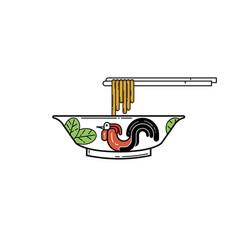 chicken bowl vector image