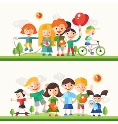 Children hobbies and activities - flat design vector image