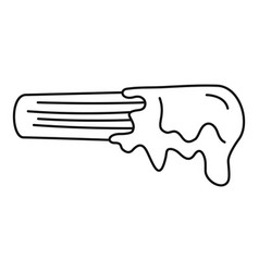 churro icon outline style vector image