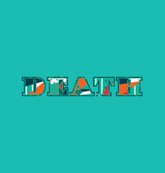 Death concept word art vector