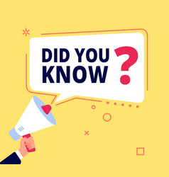 Did you know innovative facts question banner or vector