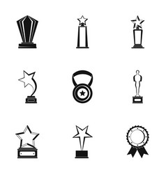 Dose icons set simple style vector
