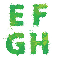 E f g h handdrawn english alphabet - letters vector