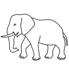 Elephant contour icon vector