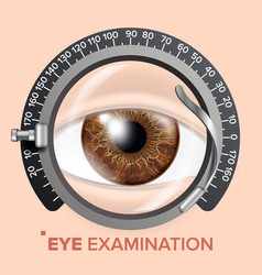 eye test banner clinic consultation vector image