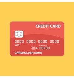 Flat design credit card vector image
