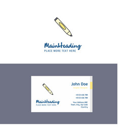 flat marker logo and visiting card template vector image