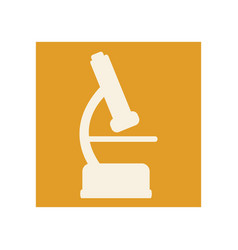 Flat microscope icon education vector