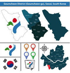 geumcheon district seoul city south korea vector image