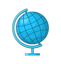 Globe icon in cartoon style vector image