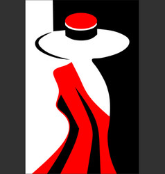 Grace of a female silhouette vector