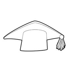 Graduation cap icon isometric 3d style vector
