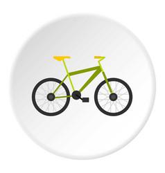 green bike icon circle vector image